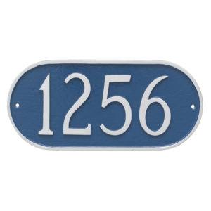 Oblong Address Sign Plaque