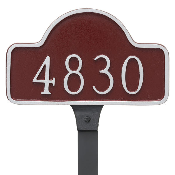 Lexington Arch Small Address Sign Plaque with Lawn Stake