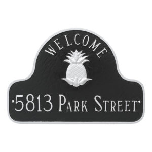 Pineapple Two Line Welcome Arch Address Sign Plaque