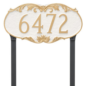 Charleston Address Sign Plaque with Lawn Stakes