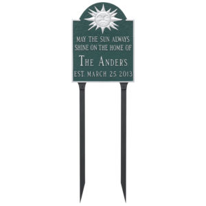 Established Wedding Anniversary Sign Plaque with Lawn Stakes