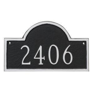 Classic Arch Petite Address Sign Plaque
