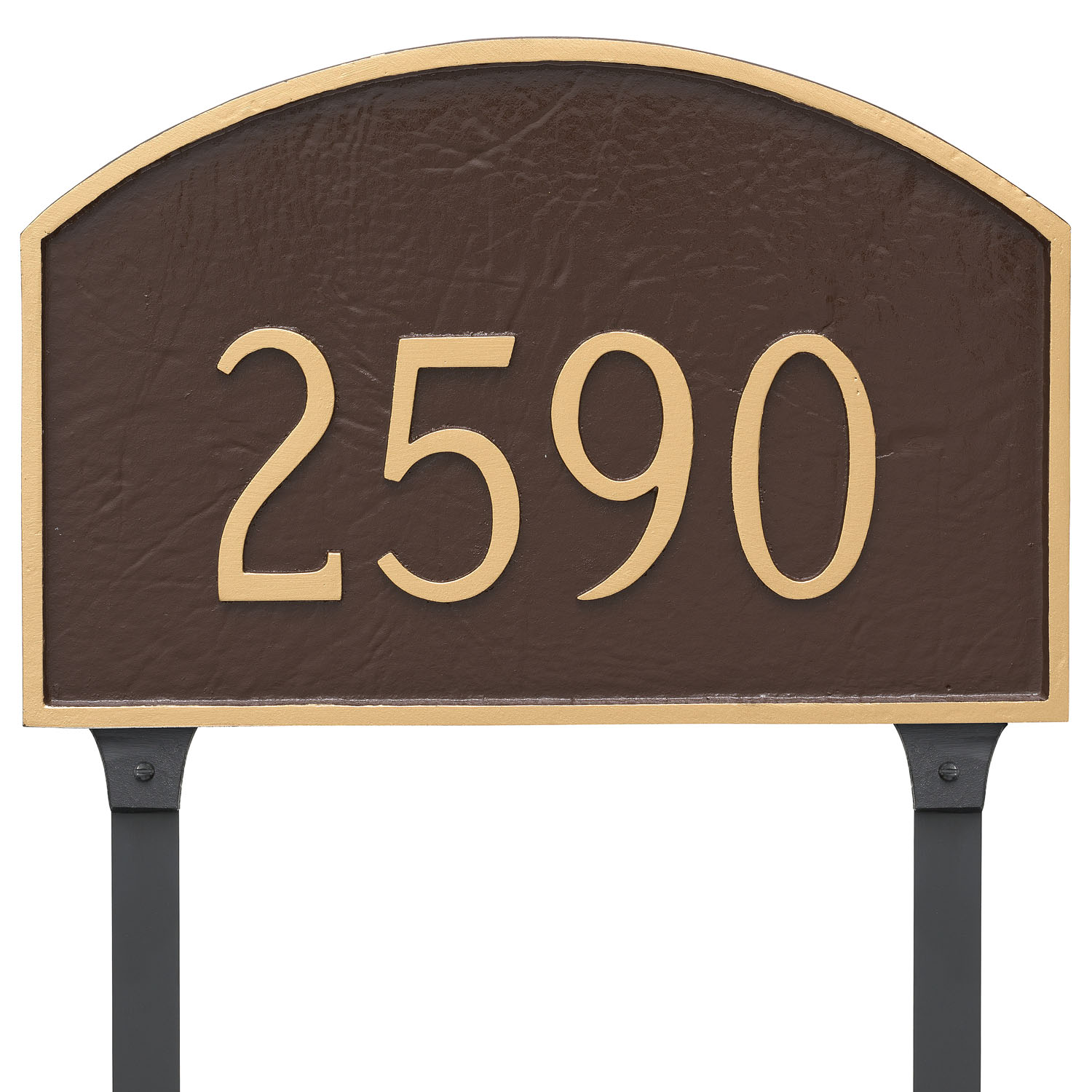 Prestige Arch Standard One Line Address Sign Plaque With Lawn Stakes The Address Number Store