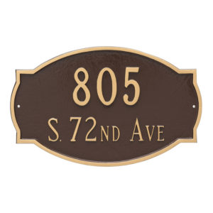 Cambridge Estate Two Line Address Sign Plaque