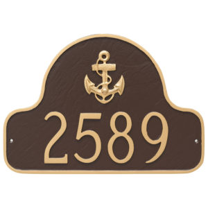Anchor Arch Address Sign Plaque