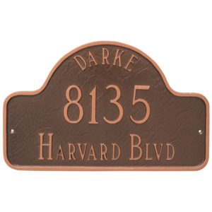 Arch with Name Estate Address Sign Plaque