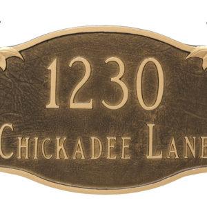 Chickadee Address Sign Plaque