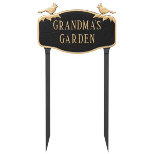 Cardinal Address Sign Plaque with Lawn Stakes