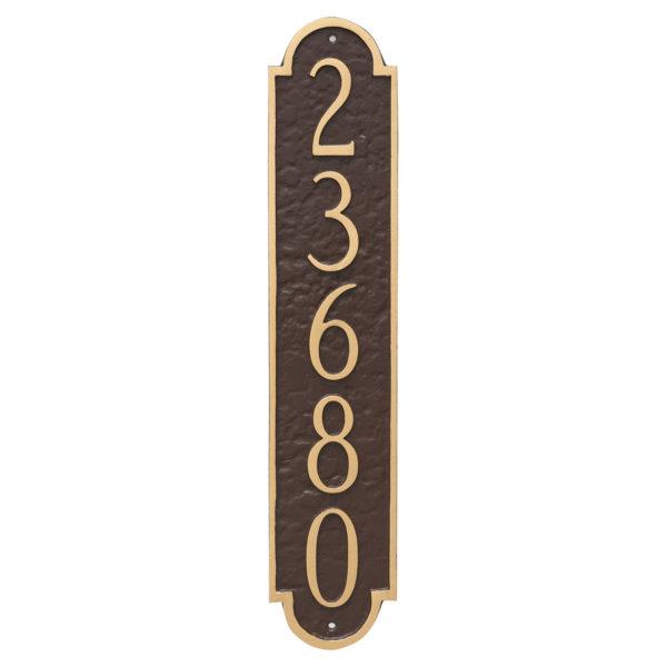 Rockford Column Address Sign Plaque