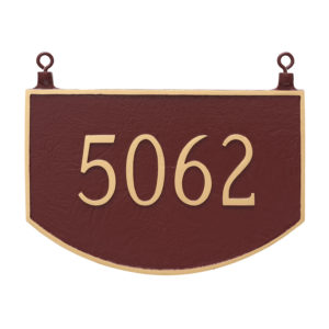 Double Sided Hanging Prestige Arch Address Sign Plaque