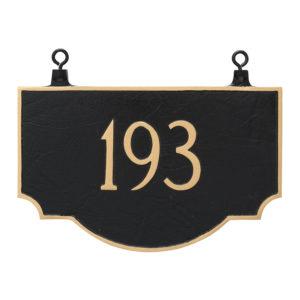 Double Sided Hanging Vanderbilt Address Sign Plaque