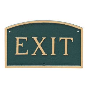 "13"" x 21"" Large Arch Exit Statement Plaque Sign"