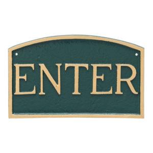 "13"" x 21"" Large Arch Enter Statement Plaque Sign"
