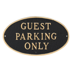 """10"""" x 18"""" Large Oval Guest Parking only Statement Plaque Sign"""