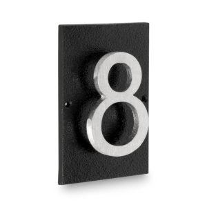 """Floating Modern 3"""" Number Horizontal Address Plaque (1 digit)"""
