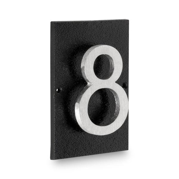 """Floating Modern 4"""" Number Horizontal Address Plaque (1 digit)"""