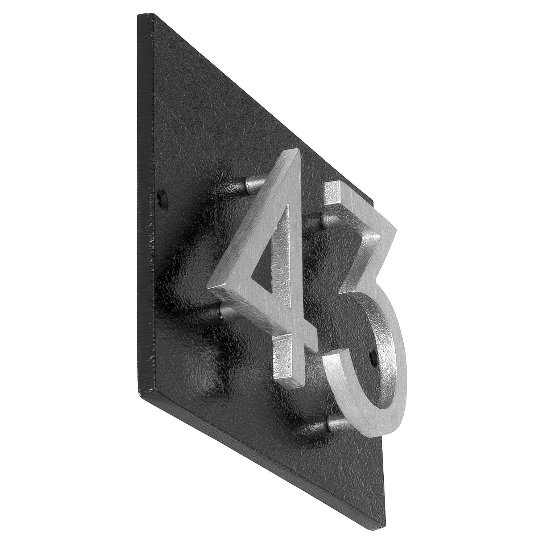 "Floating Modern 4"" Number Horizontal Address Plaque (2 digits)"