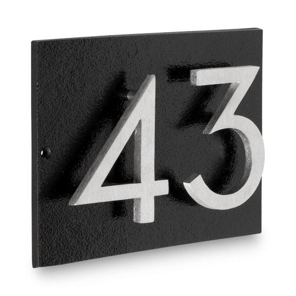 "Floating Modern 3"" Number Horizontal Address Plaque (2 digits)"