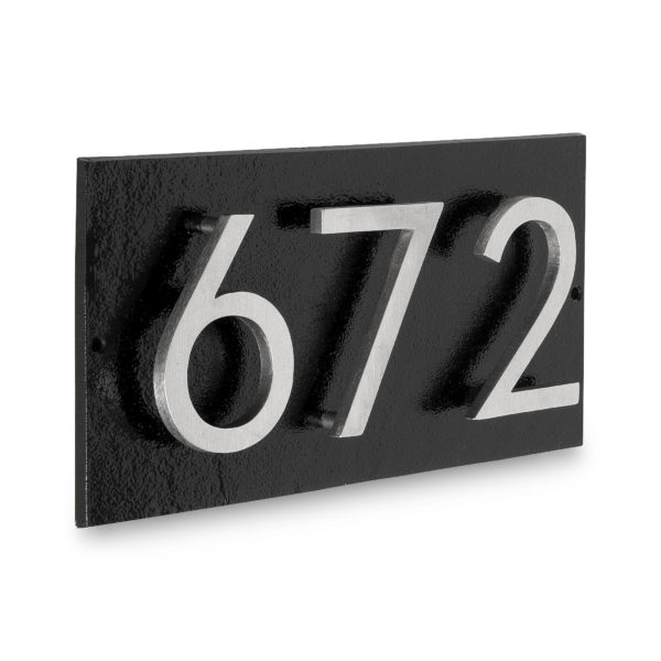 "Floating Modern 4"" Number Horizontal Address Plaque (3 digits)"