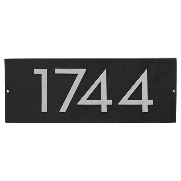 "Floating Modern 4"" Number Horizontal Address Plaque (4 digits)"