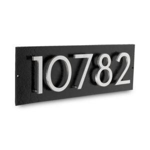 "Floating Modern 4"" Number Horizontal Address Plaque (5 digits)"