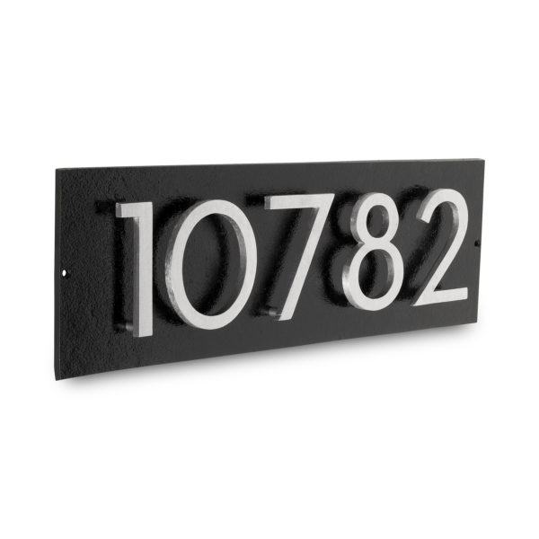 "Floating Modern 3"" Number Horizontal Address Plaque (5 digits)"