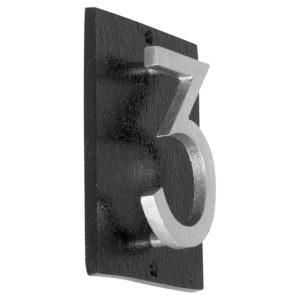 """Floating Modern 3"""" Number Vertical Address Plaque (1 digit)"""
