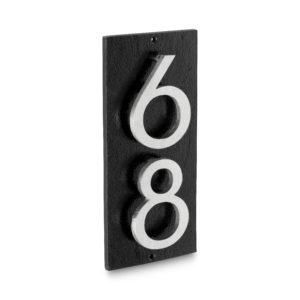 """Floating Modern 3"""" Number Vertical Address Plaque (2 digits)"""