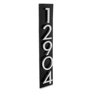 """Floating Modern 3"""" Number Vertical Address Plaque (5 digits)"""