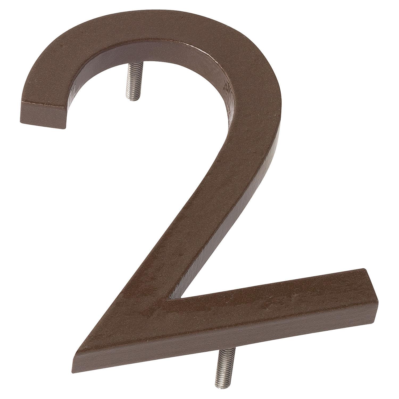 Floating House Number 8Broadway SeriesModern Designer Door NumbersAcryl