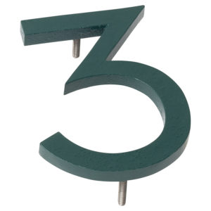"""4"""" Hunter Green Aluminum floating or flat Modern House Numbers 0-9"""