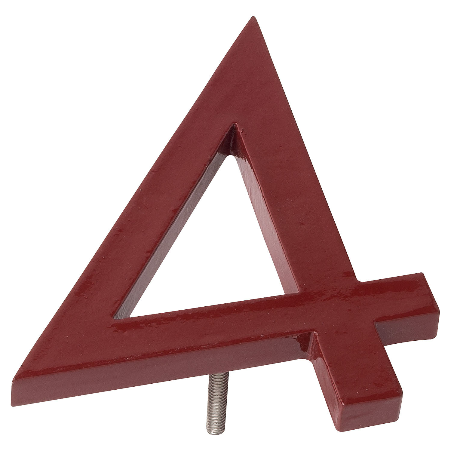 6 Brick Red Aluminum Floating Or Flat Modern House Numbers 0 9 The Address Number Store