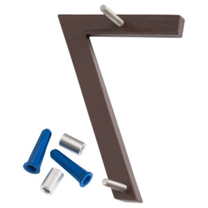 """4"""" Satin Nickel/Roman Bronze Two Tone Aluminum floating or flat Modern House Numbers 0-9"""