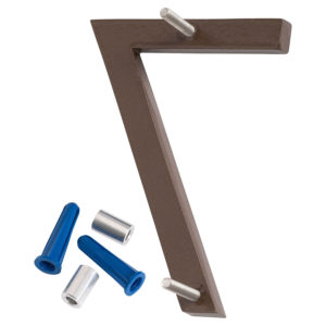 """10"""" Satin Nickel/Sand Two Tone Aluminum floating or flat Modern House Numbers 0-9"""