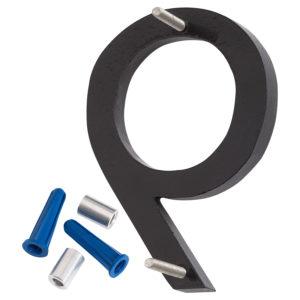 "6"" Black Aluminum floating or flat Modern House Numbers 0-9"