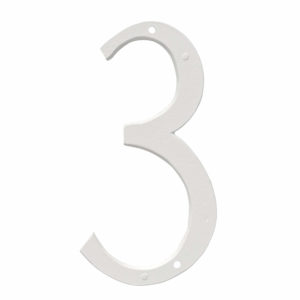 """8"""" Standard House Number in Black or White"""