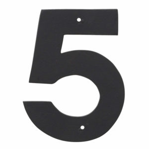 """6"""" Helvetica House Number in Black or White"""