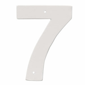 """4"""" Helvetica House Number in Black or White"""