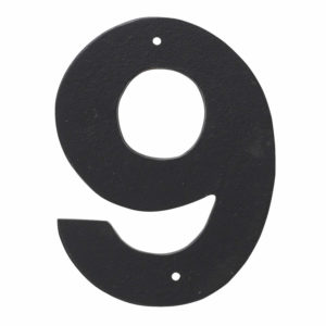 """3"""" Helvetica House Number in Black or White"""