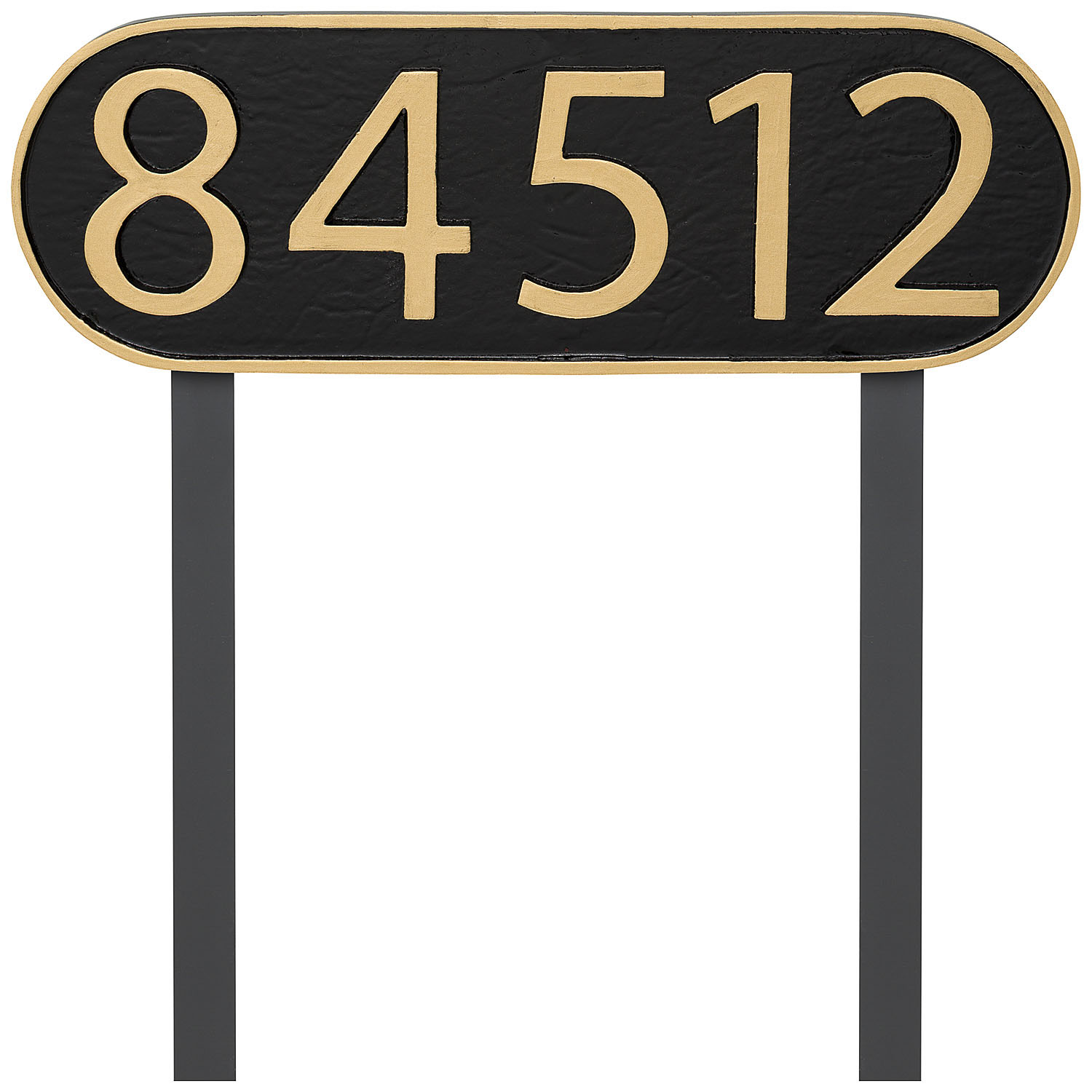 Modern Oblong Economy Address Plaque (holds up to 5 characters)