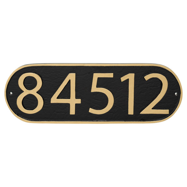 Modern Oblong Economy Plaque (holds up to 5 characters)