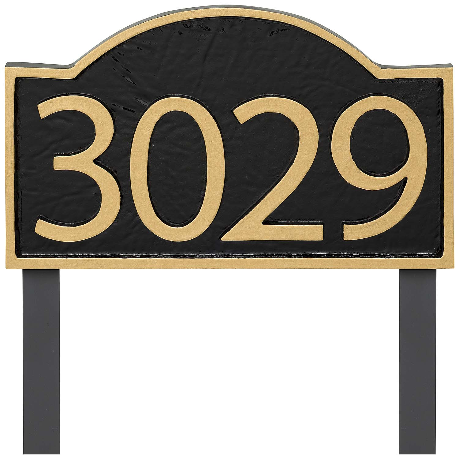 Soft Arch Modern Economy Address Plaque (holds up to 4 characters)