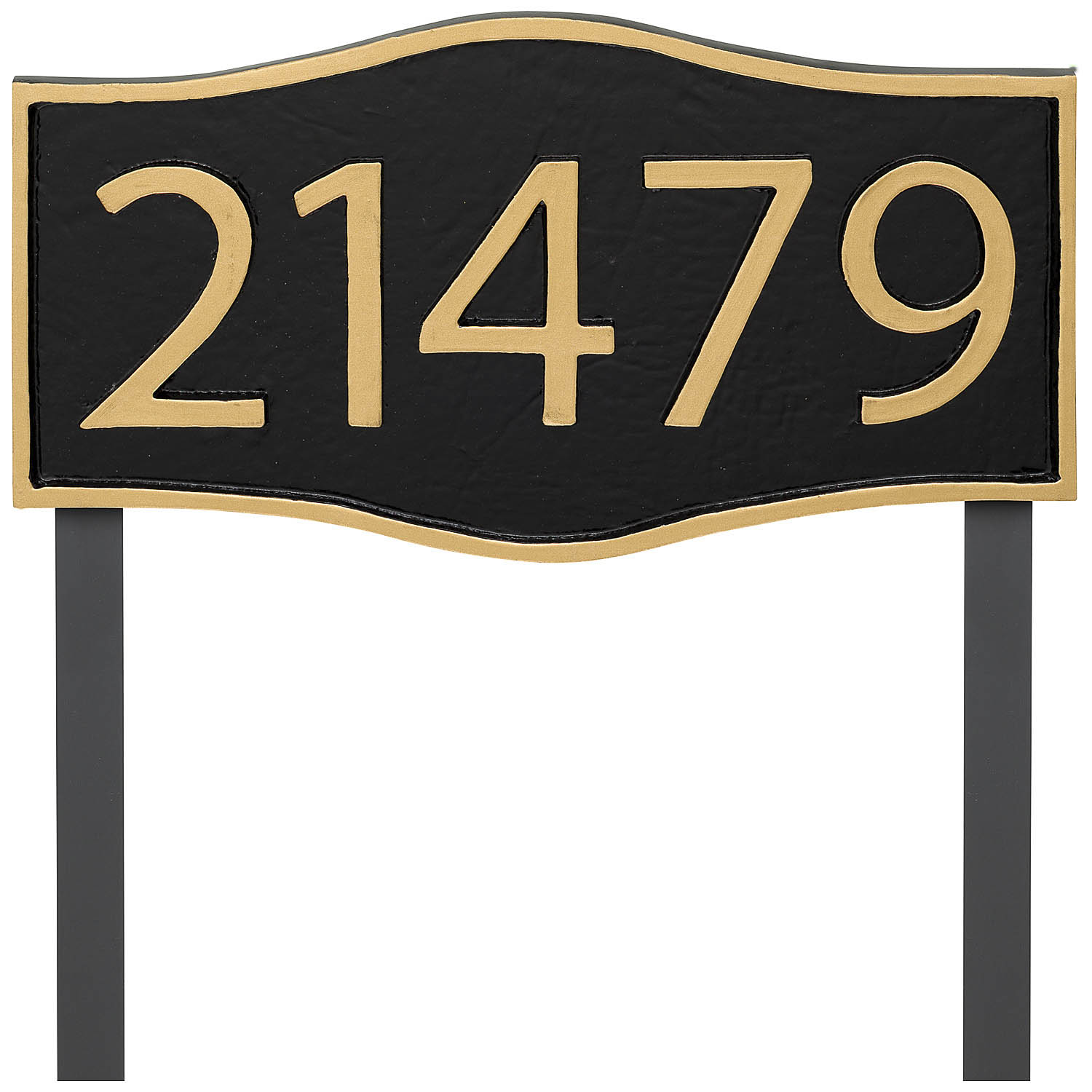 Double Arch Modern Economy Address Plaque (holds up to 5 characters)