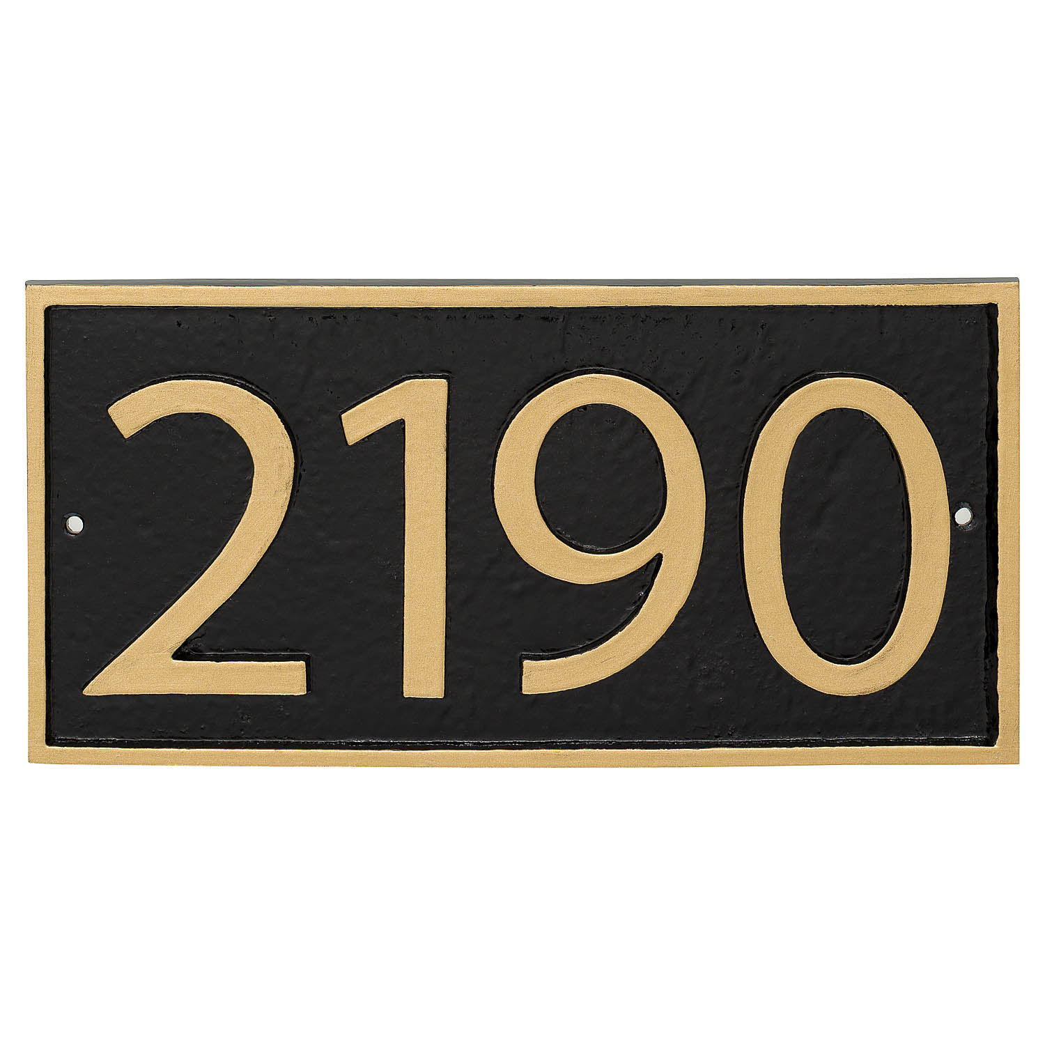 Rectangle Modern Economy Address Plaque (holds up to 4 characters)