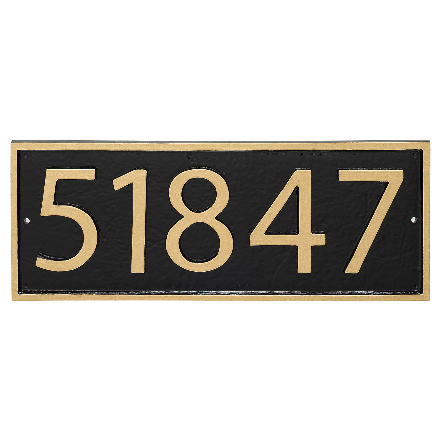 Rectangle Modern Economy Address Plaque (holds up to 5 characters)