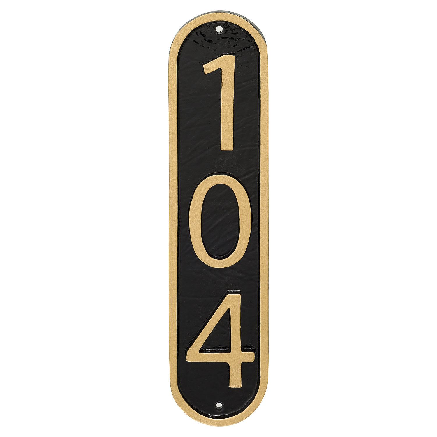 Modern Vertical Economy Address Plaque (holds up to 3 characters)