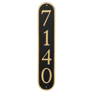Serif Vertical Oblong Economy Address Plaque (holds 4 or 5 characters)