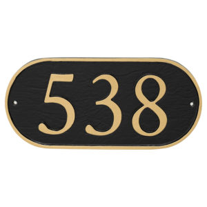 Serif Oblong Economy Plaque (holds up to 3 characters)