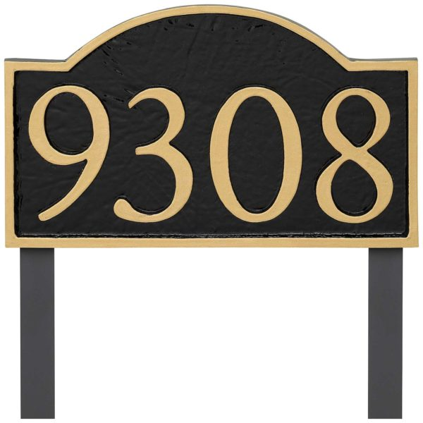 Soft Arch Serif Economy Address Plaque (holds up to 4 characters)