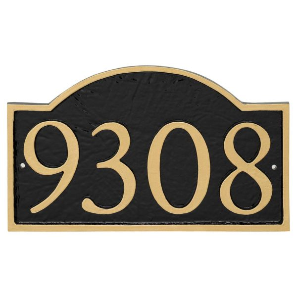 Soft Arch Serif Economy Address Plaque (holds 4 or 5 characters)